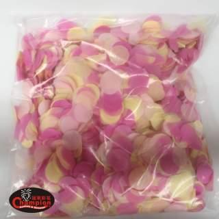 粉紅色膚色混合圓形紙片