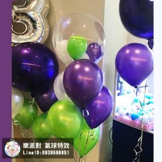紫綠 空飄 泡泡 透明 耐久