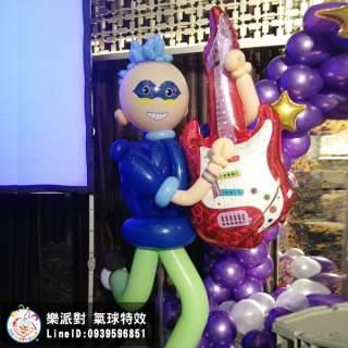 彈奏吉他的搖滾樂手