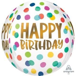 立體圓球: 彩色生日點點