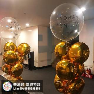 泡泡 透明 空飄 球串 立體 圓 客製 貼字 鋁箔