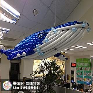 人物 人偶 動物 拍照區 客製 造型 鯨魚 天花板